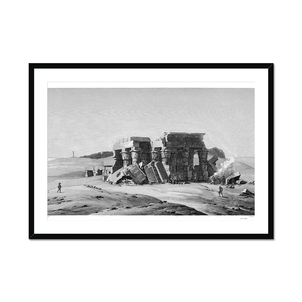 Temple Ruins - Kom Ombo Egypt -  Framed & Mounted Print
