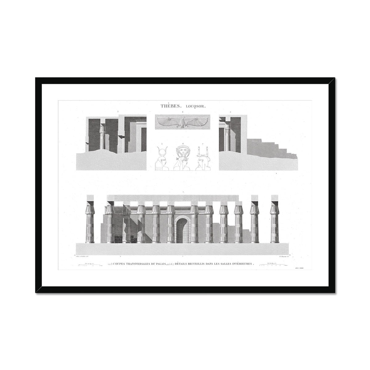 Cross Section of the Palace 2 - Luxor - Thebes Egypt -  Framed & Mounted Print