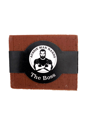 Aussie Man Hands Mens Exfoliating Soap - The Boss