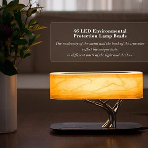 Smart  bedside lamp  Led  Bluetooth Wireless Speaker Charger  table lamp - HOMA plus