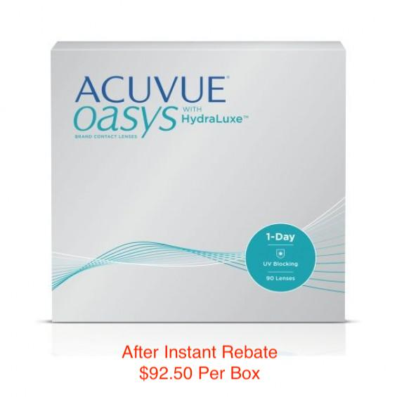 ACUVUE OASYS® 1-Day with HydraLuxe™ 90-pack