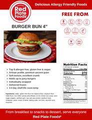 Red Plate Foods Product Information Page Burger Buns