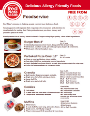 Red Plate Foods Product Information Sheet