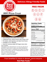 Red Plate Foods Pizza Product Information Page