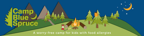 Camp Blue Spruce Holiday Party Banner