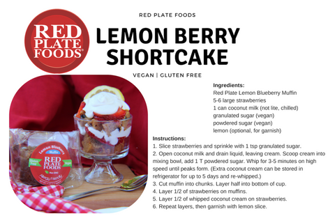 Lemon Berry Shortcake Recipe - Easy Vegan Desserts