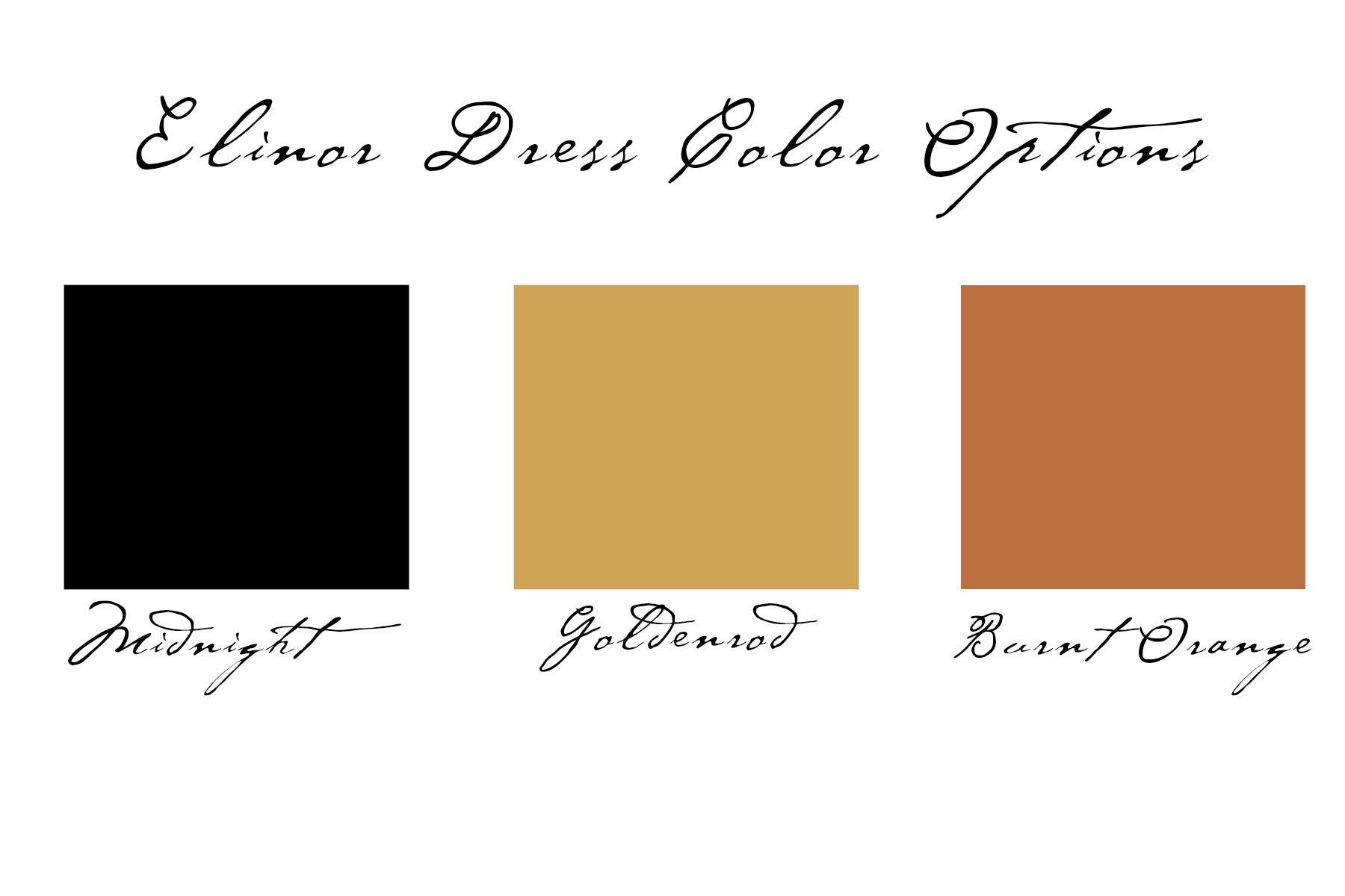 Elinor Dress Color Options