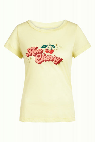 Cath Tee Cherry Shirt - light yellow
