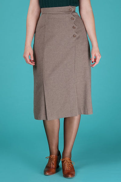 The art deco dream skirt taupe stripe