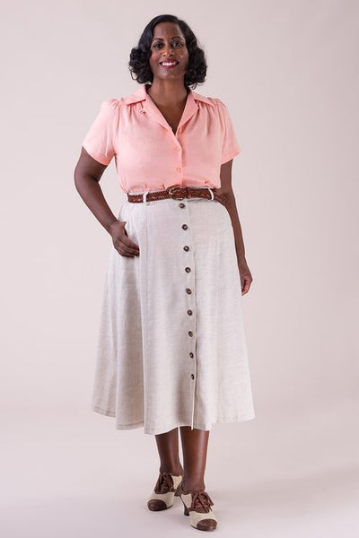 The vixen voyager skirt - natural linen
