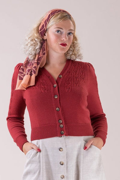 The Peggy Sue Cardigan - brick red