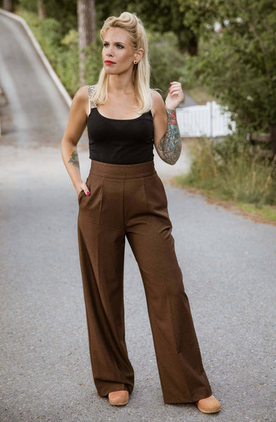 Billie Pants - goldbrown