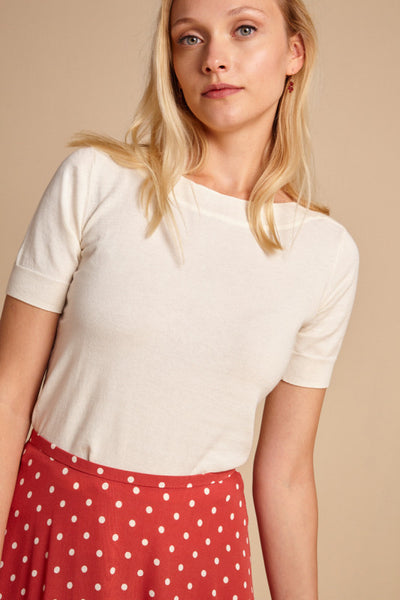 Audrey Top Organic Cottonclub - cream