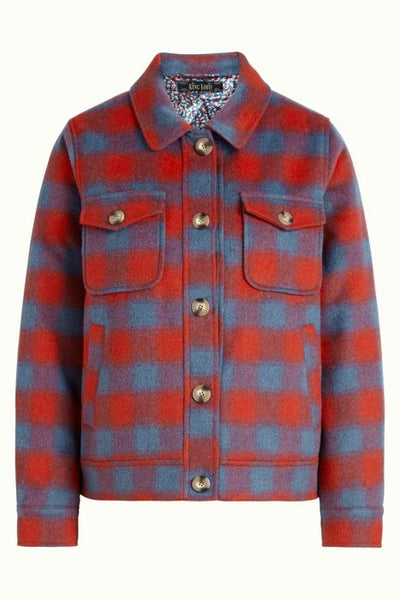Sile Shirt Jacket Seattle - fire red