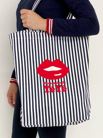 Take It All Tote Bag – Stripes Blue/White