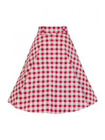 Violetta Vintage Gingham Swing Skirt