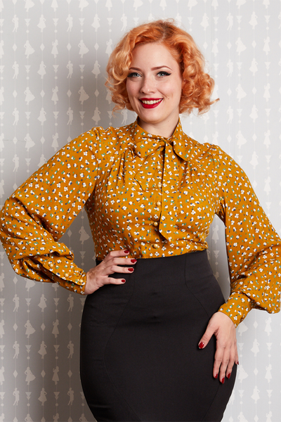 Althea Mustard Blouse