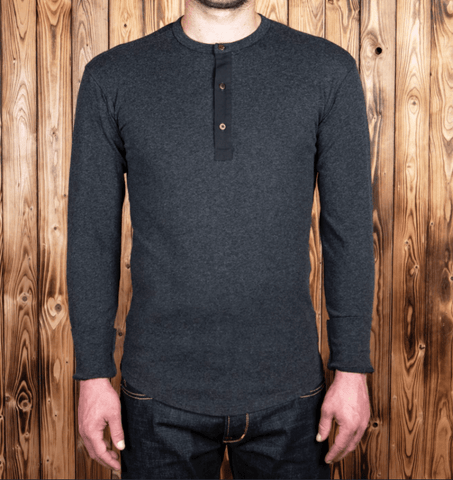 1927 Pike Brothers Henley Shirt long in iron grey