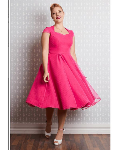 Celia organza dress magenta