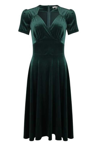 Hollywood Circle Dress - steam velvet