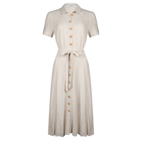 Jane Dress Linnen Naturel