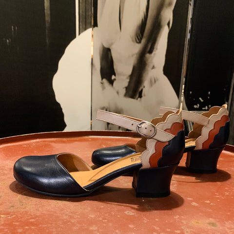 Flaunt Leder Pumps - denim