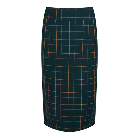 Pencil Skirt Petrovna - green/check