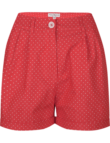 Shorts Denim Dots