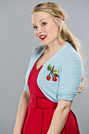 Strawberry Summernight Shrug Bolero
