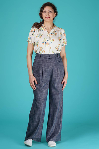 The fancy worker pants - navy salt & pepper