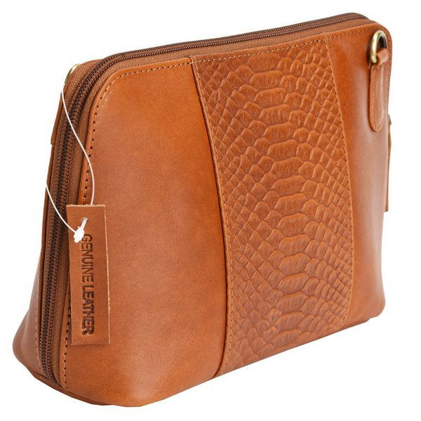 Vipera Snake Leather Messenger Clutch