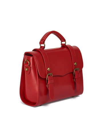 Joanna Satchel Bag red Größentabelle