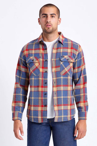 Bowery L Flannel - blue/red