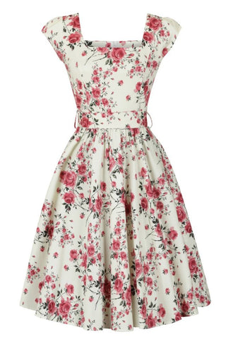 Swing Dress Delicate Vintage Floral