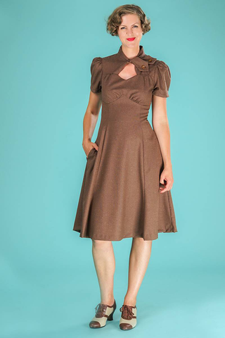 the key to my heart dress - speckled brown