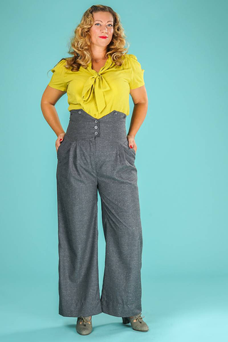The Miss Fancy Pants Slacks speckled gray