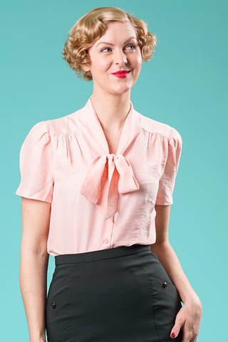 the sassy secretary blouse