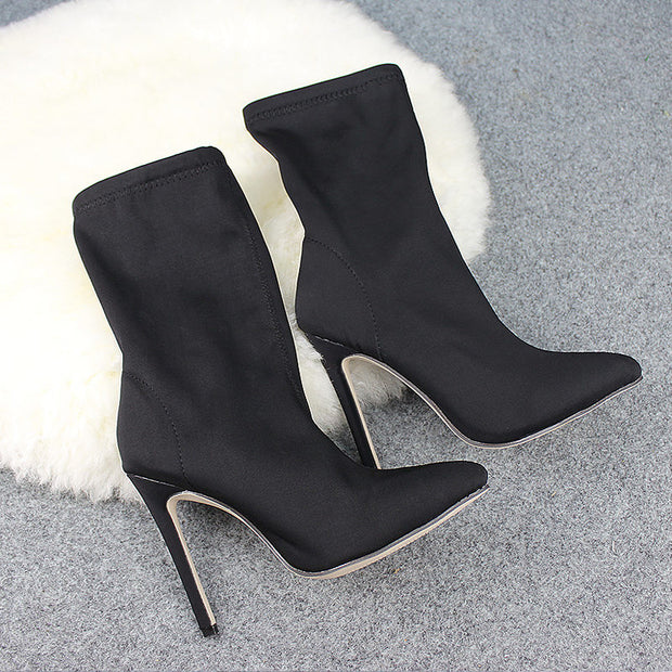 Women Elastic High Heel