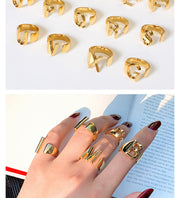 A-Z Letter Gold Color Ring