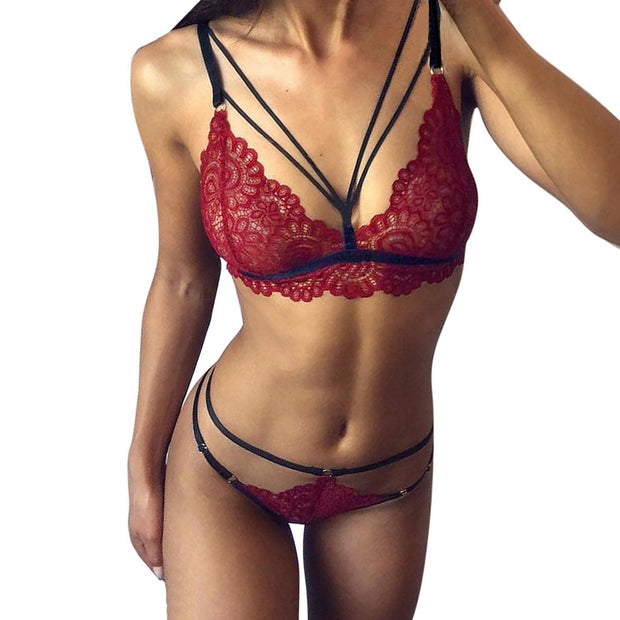Women Straps Lingerie Set