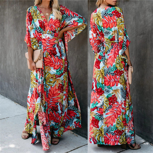 Printed Caftan Swimsuit