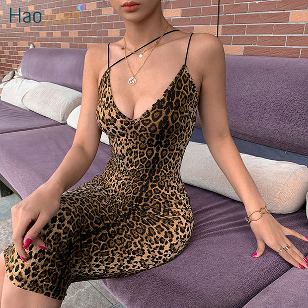 Sexy Leopard Tiger Print Dress