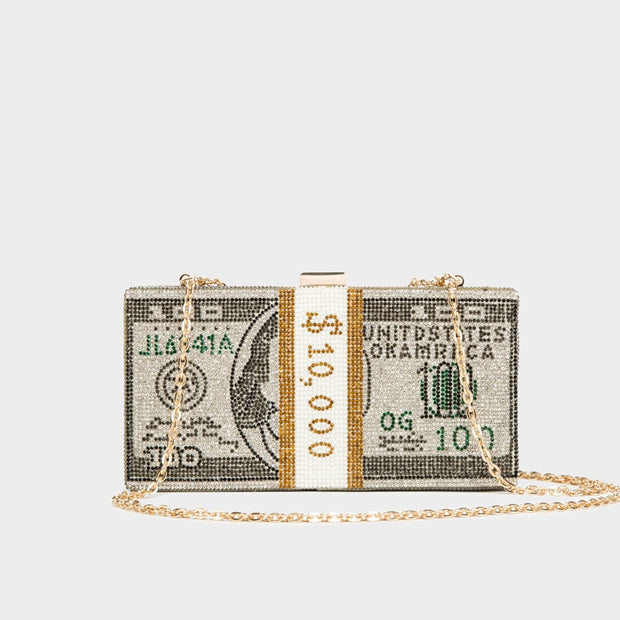 Stack of Cash Dollars Money Bag