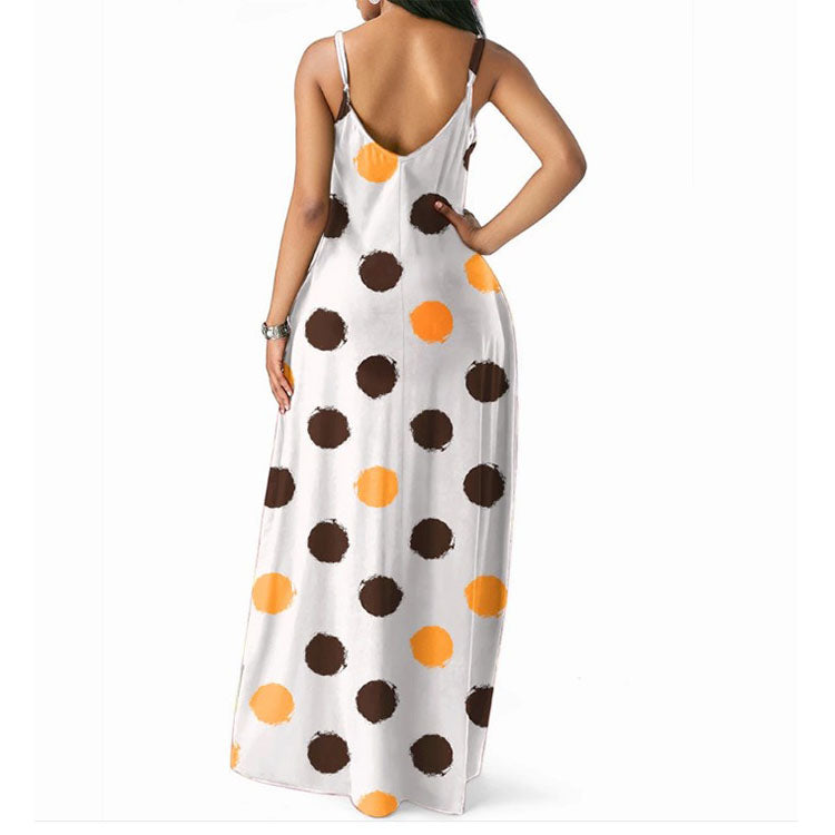 summer printed women dress long maxi beach dresses