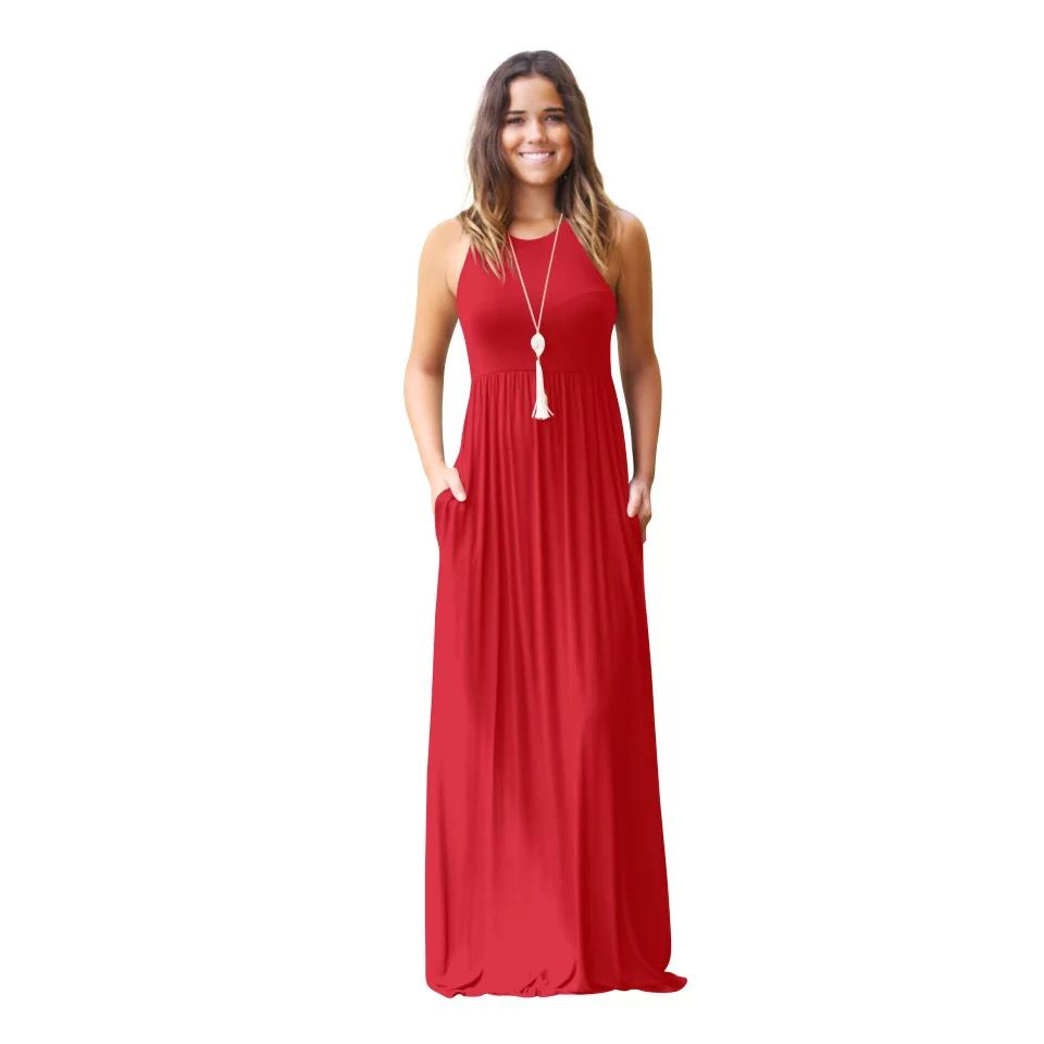 MAXI DRESS  summer Maxi dress woman sleeveless PLUS SIZE maxi DRESS