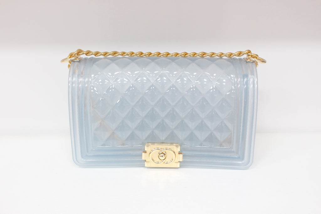 transparent chain jelly bag