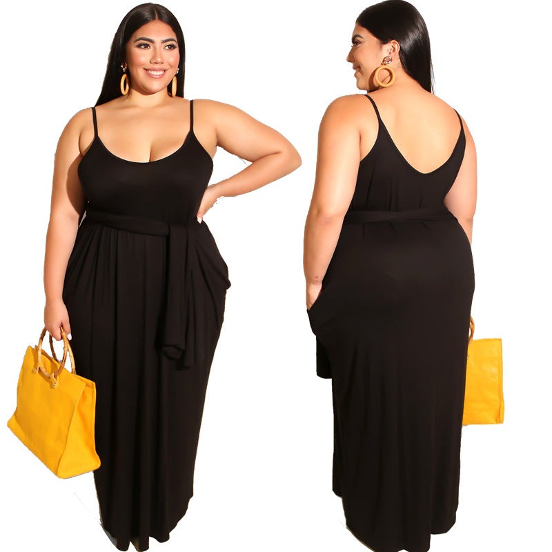 women plus maxi dress big size