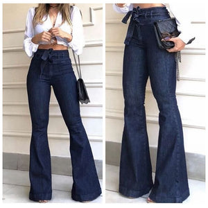 High Waist Boot cut Calca Jeans Trouser Women
