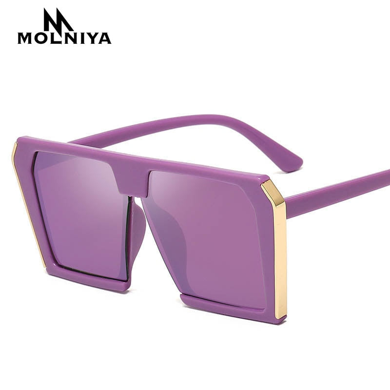 2019 Vintage Big Square Sunglasses Women Oversized Luxury  Sun Glasses Female