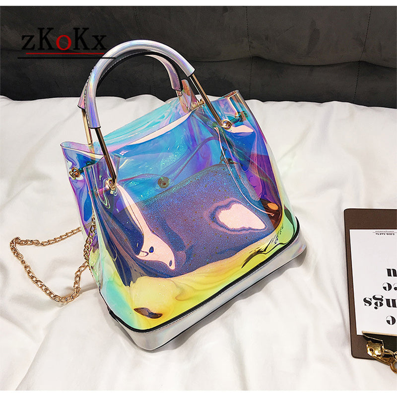 Candy Color Women  Jelly Bags Purse